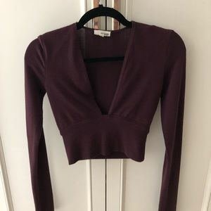 Burgundy long sleeve top from Aritzia!